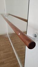 Barra simples fixa parede madeira chumba