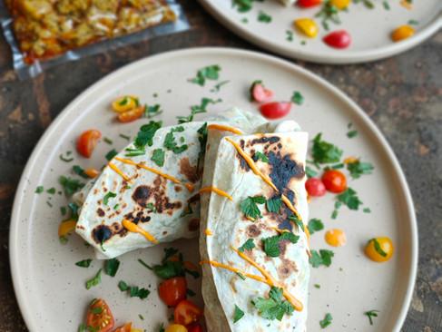 Łatwe i pyszne tortille ze świeżymi warzywami i Qurczakiem Gyrosem