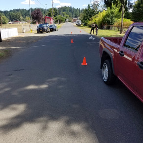 Pestrian VS Vehicle Crash In Siletz