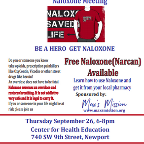 Free Naloxone Kits And Education Program