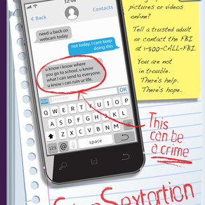 #StopSextortion Campaign - Educating Oregon Students, Parents & Educators