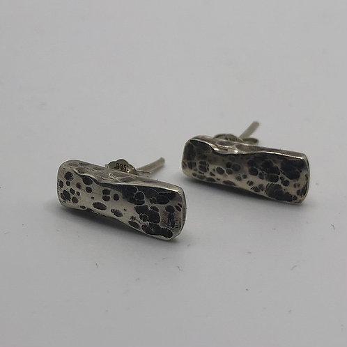 Short Bar Earrings - 925 Sterling Silver