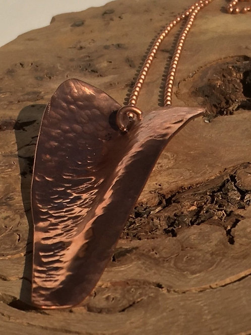 Large Heart Pendant - Hand Cut - Copper