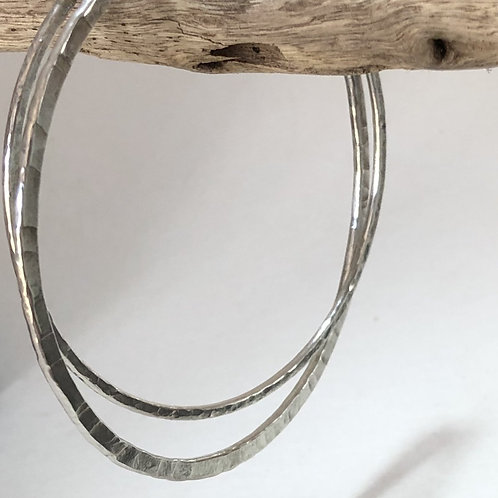 Made To Order-Double Russian Style - Thick and Thin Bangles -925 Sterling Silver