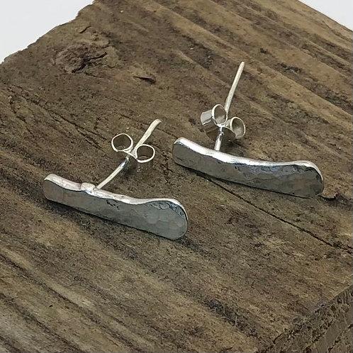 Long Bar Earrings - 925 Sterling Silver