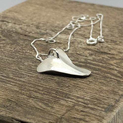 Medium Heart Pendant- Smooth -925 Sterling Silver