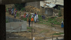 Group of Ethiopian women helping to clea