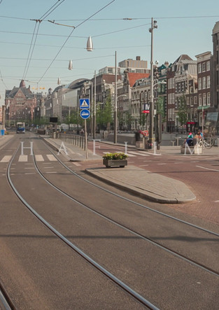 Time lapse popular street in Amsterdam