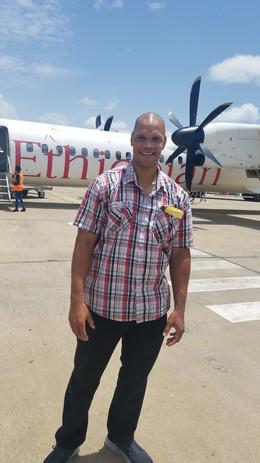 landing in Mekelle, Ethiopia