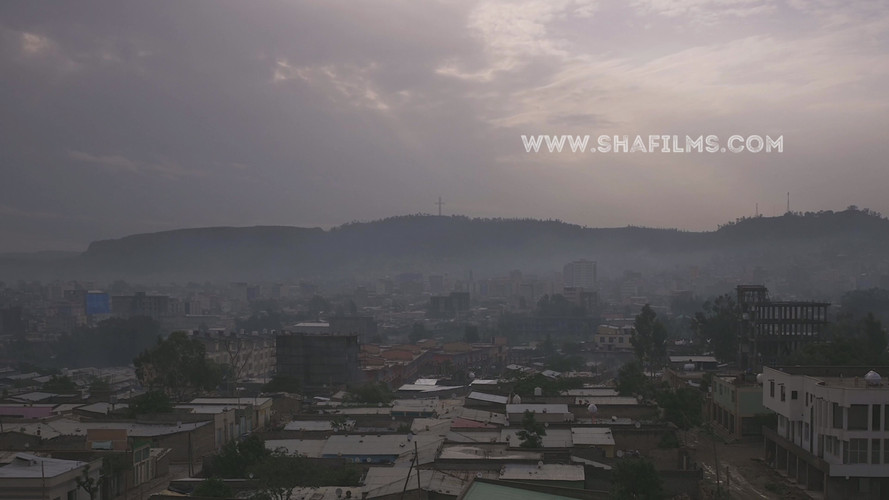 High angle time lapse of Mekelle, Ethiop