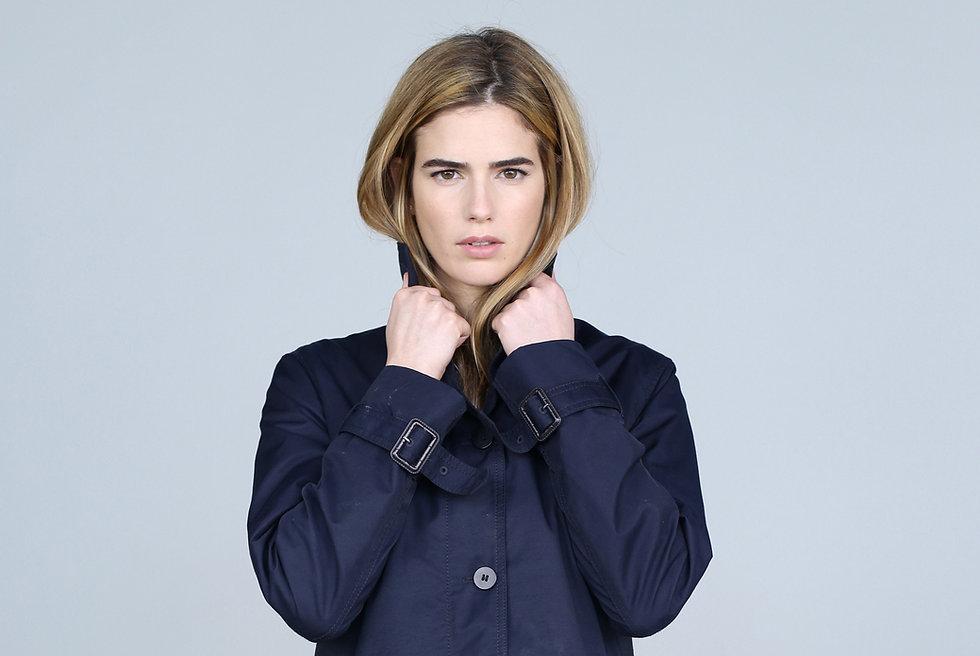 Model with Coat