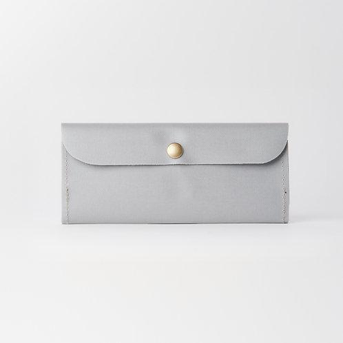 slim long wallet gray