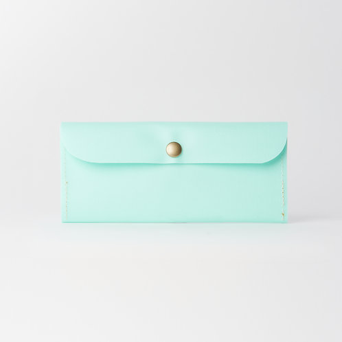 slim long wallet green