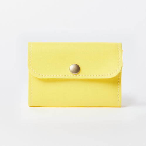 compact wallet yellow