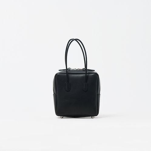 leather shikaku bag black