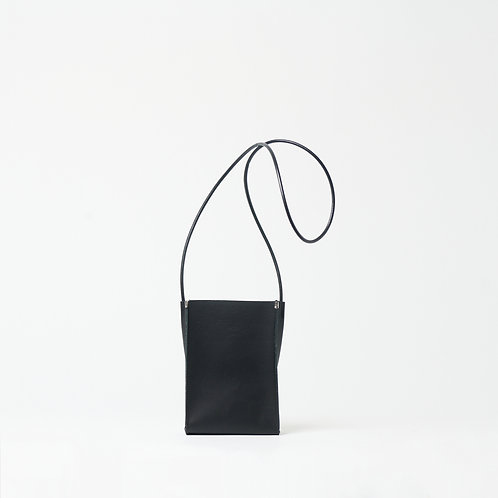 leather sacocche black