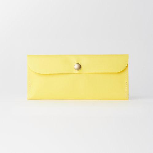 slim long wallet yellow