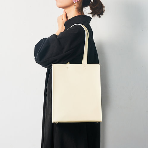 leather shopper bag 縦/横