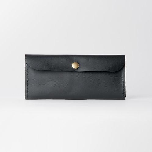 compact long wallet black