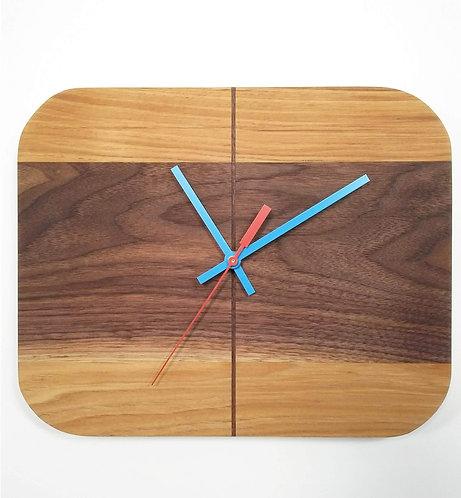 Walnut and Hickory RetroBug Clock