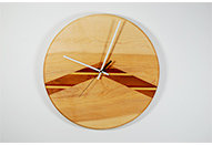 Chevron Clock with Walnut Purple Heart inlay