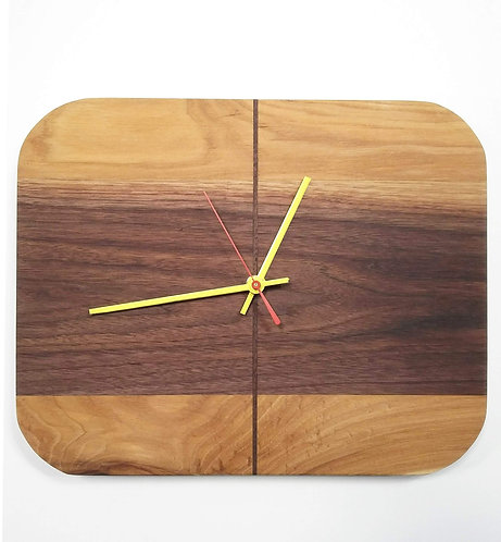 Walnut and Hickory RetroBug Clock