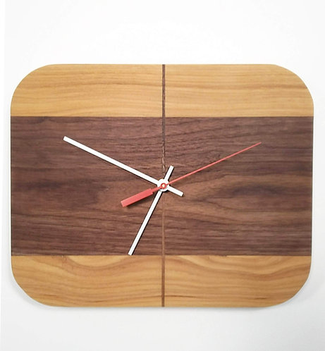 Hickory and Walnut RetroBug Clock