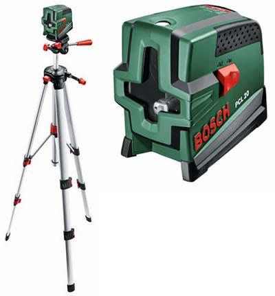 Krusteniskais lāzers ar statīvu Bosch PCL 20