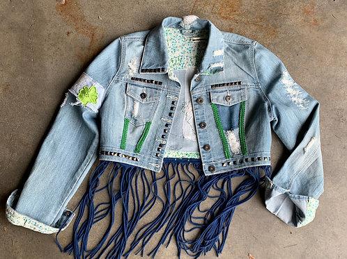 Earthy Fringe Jacket - Size S
