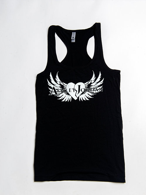 Womens Ashley Jordan Black Tank