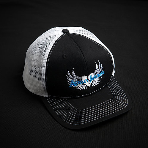 Ashley Jordan White & Black Trucker Hat