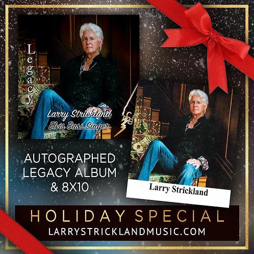 Holiday Bundle: Autographed Legacy Album + Autographed 8X10