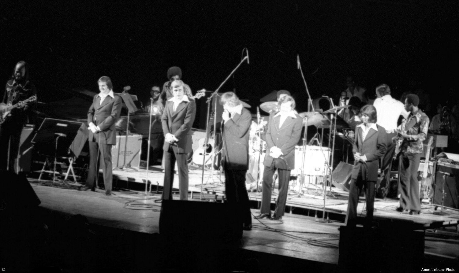 The Stamps opening the show with the Sweet Inspirations band