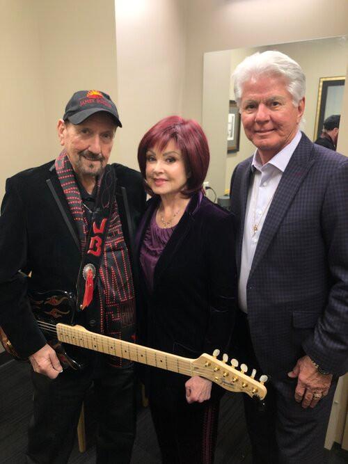 The legendary guitar player. James Burton with Naomi & I
