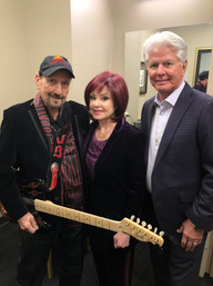 The legendary guitar player. James Burton with Naomi & I