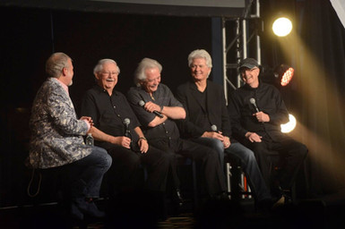 Tom Brown from Elvis Radio, interviewing The Stamps at Elvis Week.      tom, Ed Hill, Donny Sumner, Me & Bill Baize
