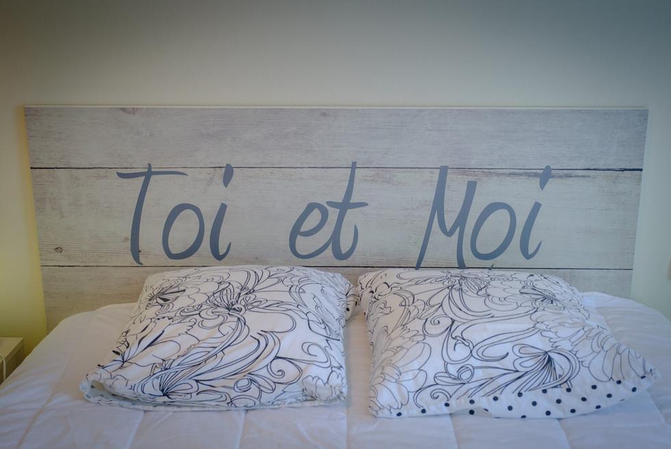 chambre bleue du gîte du Cloiseau