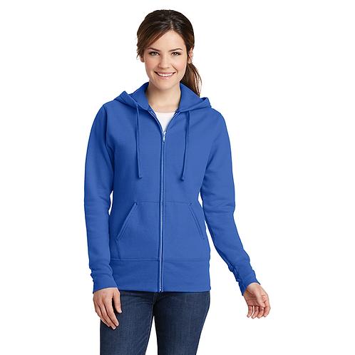 MAS National LPC78ZH Port & Company® Ladies Core Fleece Full-Zip Hooded