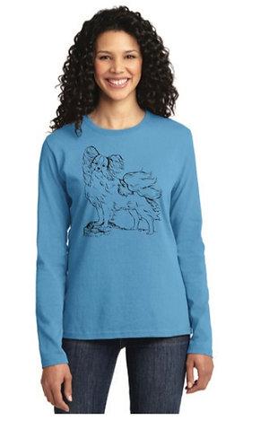 NP Standing Pap LPC54LS Port & Company® Ladies Long Sleeve Core Cotton Tee