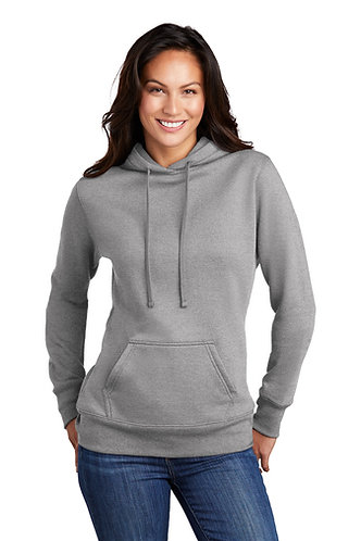 Peekin Pom LPC78H NEW Port & Company ®  Ladies Core Fleece  Hooded Swea