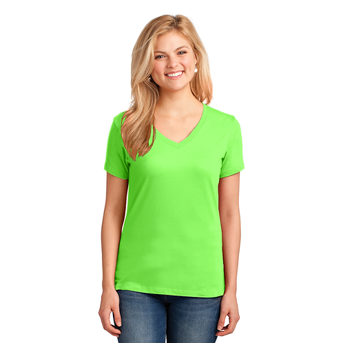 Lab LPC54V Port &Company® Ladies Core Cotton V-Neck Tee