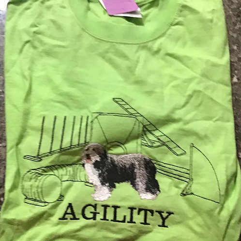 Beardie Collie Standing Agility Embroidery Design