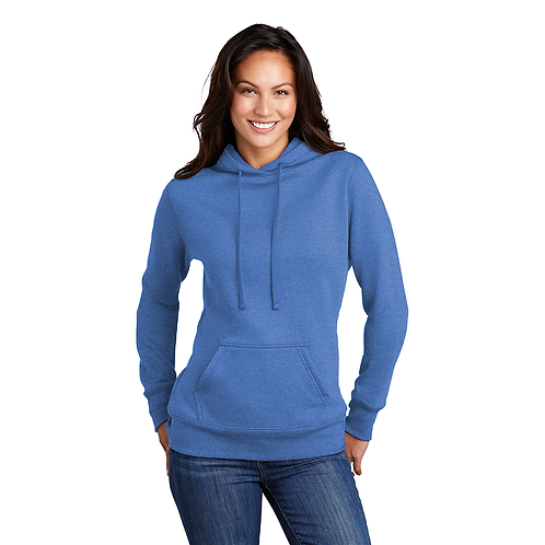 Peeking Border Collie Ladies Core Fleece Pullover Hooded Sweatshirt