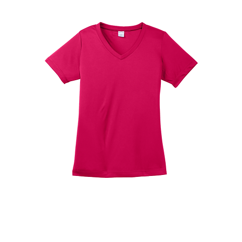Triune Agility LST353 Moisture Wicking V-Neck T