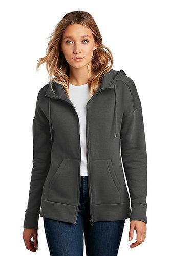 PL DT1104 District® Women's Perfect Weight® Fleece Drop Shoulder Full-Zip Hoodie
