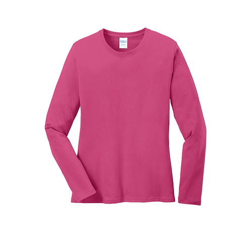 PP LPC54LS Port & Company® Ladies Long Sleeve Core Cotton Tee