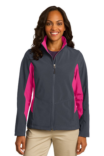 L318 Port Authority® Ladies Core Colorblock Soft Shell Jacket