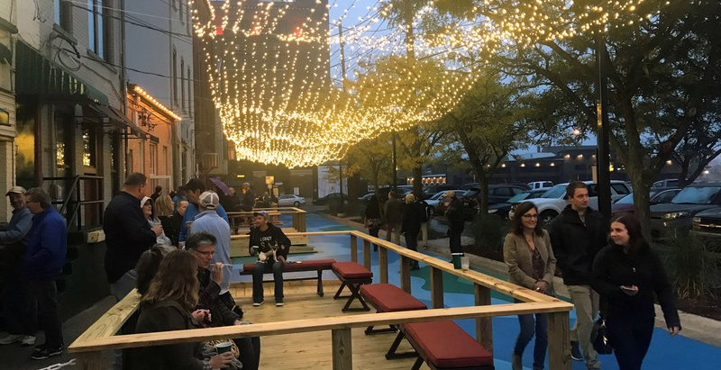 Michigan Downtowns Transform Neglected Alleyways into Public Spaces