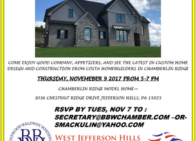 Open House Mixer, sponsored by Costa Homebuilders and All Pittsburgh Real Estate