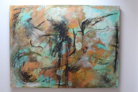 120x160 cm Acryfarbe auf Leinwand